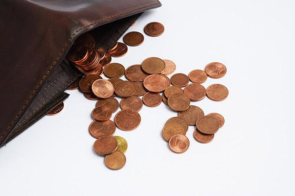 財布から小銭
